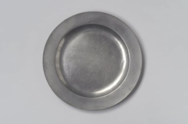 American. <em>Plate</em>, 1760-1790. Pewter, 5/8 x 8 7/8 x 8 7/8 in. (1.6 x 22.5 x 22.5 cm). Brooklyn Museum, Anonymous gift, 42.278.5. Creative Commons-BY (Photo: Brooklyn Museum, 42.278.5.jpg)