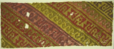 Chancay. <em>Textile Fragment, undetermined</em>, 1000-1400. Camelid fiber, cotton, 17 5/16 × 42 1/2 in. (44 × 108 cm). Brooklyn Museum, A. Augustus Healy Fund, 42.313. Creative Commons-BY (Photo: Brooklyn Museum, 42.313.jpg)