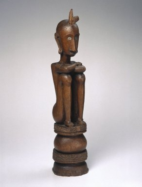 <em>Ancestor Figure (Iene)</em>, early 20th century. Wood, pigment, 22 7/8 x 4 7/8 x 5 in. (58.1 x 12.4 x 12.7 cm). Brooklyn Museum, Charles Stewart Smith Memorial Fund, 42.338. Creative Commons-BY (Photo: Brooklyn Museum, 42.338_SL1.jpg)