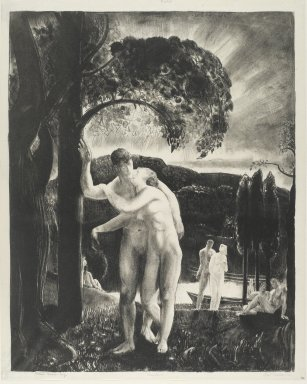 George Wesley Bellows (American, 1882-1925). <em>Amour</em>, 1923. Lithograph on off-white, medium thick, smooth textured wove paper, Sheet: 19 x 15 3/16 in. (48.3 x 38.6 cm). Brooklyn Museum, Gift of Mrs. Luke Vincent Lockwood, 42.34. © artist or artist's estate (Photo: Brooklyn Museum, 42.34_PS2.jpg)