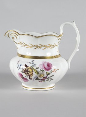 Smith Fife Co.. <em>Pitcher</em>, 1830. Porcelain, H: 7 1/2 in. (19.1 cm). Brooklyn Museum, Dick S. Ramsay Fund, 42.413.1. Creative Commons-BY (Photo: Brooklyn Museum, 42.413.1_PS5.jpg)