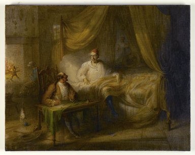John Quidor (American, 1801-1881). <em>Wolfert's Will</em>, 1856. Oil on canvas, 26 3/4 x 33 7/8 in. (68 x 86 cm). Brooklyn Museum, Dick S. Ramsay Fund, 42.46 (Photo: Brooklyn Museum, 42.46_PS1.jpg)