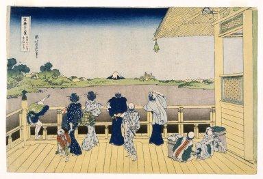 Katsushika Hokusai (Japanese, 1760-1849). <em>Fuji from the Platform of Sasayedo</em>, 19th century. Print, 10 1/16 x 15 1/16 in. (25.5 x 38.3 cm). Brooklyn Museum, Gift of Frederic B. Pratt, 42.77 (Photo: Brooklyn Museum, 42.77_IMLS_SL2.jpg)
