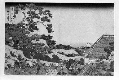 Katsushika Hokusai (Japanese, 1760-1849). <em>Surugadai in Edo, from the series Thirty-six Views of Mount Fuji</em>, ca. 1830-1831. Color woodblock print on paper, 9 3/4 x 14 3/4 in. (24.7 x 37.4 cm). Brooklyn Museum, Gift of Frederic B. Pratt, 42.78. Creative Commons-BY (Photo: Brooklyn Museum, 42.78_bw_IMLS.jpg)