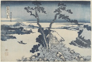 Katsushika Hokusai (Japanese, 1760-1849). <em>Lake Suwa in Shinano Province, from the series Thirty-six Views of Mount Fuji</em>, ca. 1830-1831. Color woodblock print on paper, Image: 10 1/4 x 15 1/16 in. (26 x 38.2 cm). Brooklyn Museum, Gift of Frederic B. Pratt, 42.79 (Photo: Brooklyn Museum, 42.79_PS4.jpg)