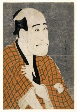 Toshusai Sharaku (Japanese, active 1794-1795). <em>Arashi Ryuzo as Ishibe Kinkichi, the Moneylender</em>, 1794-5. Color woodblock print on paper, 14 5/8 x 9 3/4 in. (37.1 x 24.7 cm). Brooklyn Museum, Gift of Frederic B. Pratt, 42.84 (Photo: Brooklyn Museum, 42.84_IMLS_SL2.jpg)