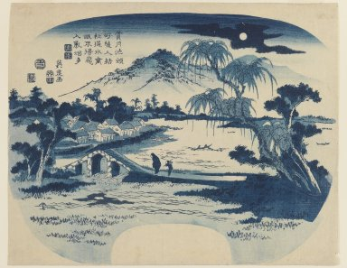 Eisen Keisai (Japanese, 1790-1848). <em>View of Shogetsu Pond</em>, 1829. Color woodblock print on paper, Sheet: 9 1/2 x 11 7/8 in. (24.1 x 30.2 cm). Brooklyn Museum, Gift of Frederic B. Pratt, 42.91 (Photo: Brooklyn Museum, 42.91_IMLS_PS3.jpg)