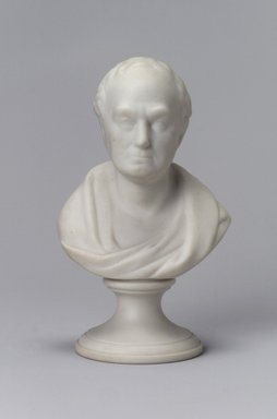 Attributed to Josiah Jones. <em>Bust</em>, 1849-1856. Unglazed porcelain, 5 1/4 x 3 1/4 x 2 1/4 in. (13.3 x 8.3 x 5.7 cm). Brooklyn Museum, Gift of Arthur W. Clement, 43.128.136. Creative Commons-BY (Photo: Brooklyn Museum, 43.128.136.jpg)