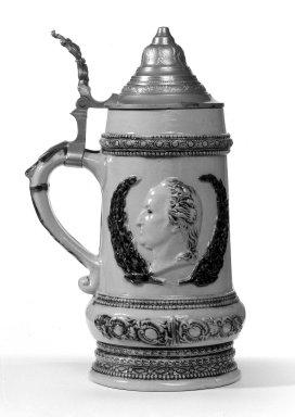 American. <em>Mug</em>. Stoneware Brooklyn Museum, Gift of Arthur W. Clement, 43.128.146. Creative Commons-BY (Photo: Brooklyn Museum, 43.128.146_bw.jpg)
