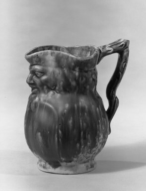 American. <em>Toby Jug</em>, 1846. Earthenware, rockingham glaze Brooklyn Museum, Gift of Arthur W. Clement, 43.128.152. Creative Commons-BY (Photo: Brooklyn Museum, 43.128.152_acetate_bw.jpg)