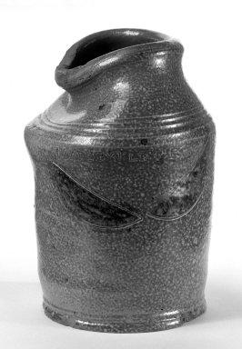 American. <em>Crock or Jar</em>. Brown stoneware, salt glaze Brooklyn Museum, Gift of Arthur W. Clement, 43.128.198. Creative Commons-BY (Photo: Brooklyn Museum, 43.128.198_bw.jpg)
