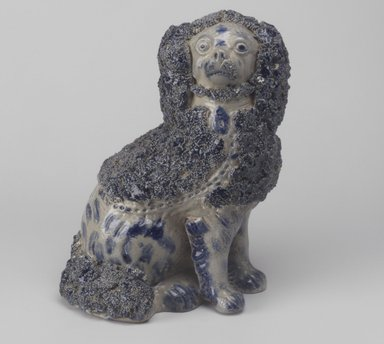 <em>Doorstop, Poodle</em>, 19th century. Stoneware, 9 1/4 x 7 x 4 3/8 in. (23.5 x 17.8 x 11.1 cm). Brooklyn Museum, Gift of Arthur W. Clement, 43.128.23. Creative Commons-BY (Photo: Brooklyn Museum, 43.128.23.jpg)