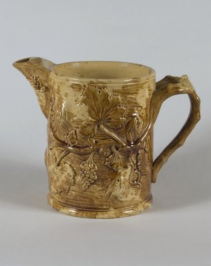 <em>Ale Pitcher</em>, 1852. Earthenware, 7 7/8 in. (20 cm). Brooklyn Museum, Gift of Arthur W. Clement, 43.128.28. Creative Commons-BY (Photo: Brooklyn Museum, 43.128.28_PS5.jpg)