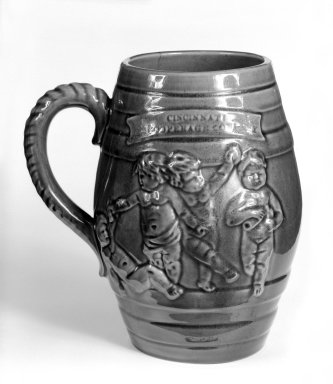 American. <em>Mug for Beer</em>. Brooklyn Museum, Gift of Arthur W. Clement, 43.128.43. Creative Commons-BY (Photo: Brooklyn Museum, 43.128.43_bw.jpg)