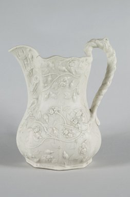 Fenton Minerva Works. <em>Pitcher</em>, 1847-1848. Parian ware, 10 1/4 in. (26 cm). Brooklyn Museum, Gift of Arthur W. Clement, 43.128.57. Creative Commons-BY (Photo: Brooklyn Museum, 43.128.57_PS5.jpg)