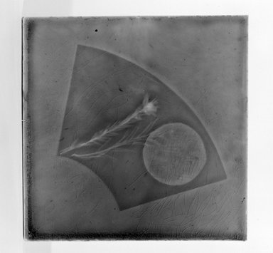 American. <em>Tile</em>, 1883-1887. Earthenware, lead glaze, 6 x 6 in. (15.2 x 15.2 cm). Brooklyn Museum, Gift of Arthur W. Clement, 43.128.64 (Photo: Brooklyn Museum, 43.128.64_bw.jpg)