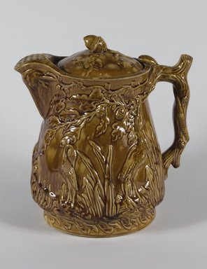 <em>Pitcher</em>. Earthenware, 11 in. (28 cm). Brooklyn Museum, Gift of Mrs. J. Joseph Noble, 43.153a-b. Creative Commons-BY (Photo: Brooklyn Museum, 43.153a-b_PS5.jpg)