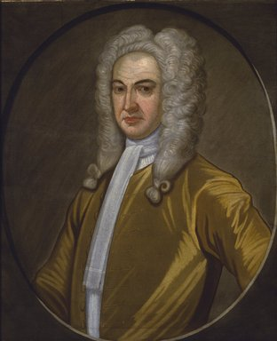 John Watson (American, 1685-1768). <em>Governor Lewis Morris</em>, ca. 1726. Oil on linen, 30 1/16 x 25 in. (76.3 x 63.5 cm). Brooklyn Museum, Purchased with funds given by John Hill Morgan, Dick S. Ramsay Fund, and Museum Collection Fund, 43.196 (Photo: Brooklyn Museum, 43.196_SL3.jpg)