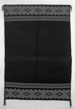 Navajo. <em>Dress, in 2 Parts</em>, 19th century. Wool, 48 1/2 x 34 1/4 in. (123.5 x 87.0 cm). Brooklyn Museum, Anonymous gift in memory of Dr. Harlow Brooks, 43.201.188a-b. Creative Commons-BY (Photo: Brooklyn Museum, 43.201.188a_bw.jpg)