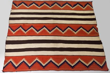 Navajo. <em>Blanket</em>, 1880-1890. Wool, dye, 54 5/16 x 66 15/16 in. (138 x 170 cm). Brooklyn Museum, Anonymous gift in memory of Dr. Harlow Brooks, 43.201.190. Creative Commons-BY (Photo: Brooklyn Museum, 43.201.190_PS5.jpg)