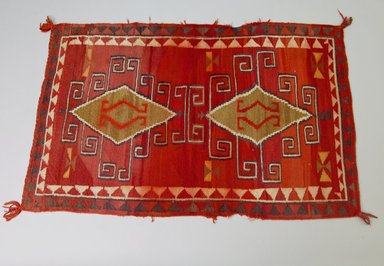 Navajo. <em>Rectangular Blanket</em>, 1890-1900. Wool, dye, 51 3/16 x 31 7/8in. (130 x 81cm). Brooklyn Museum, Anonymous gift in memory of Dr. Harlow Brooks, 43.201.191. Creative Commons-BY (Photo: Brooklyn Museum, 43.201.191_PS5.jpg)