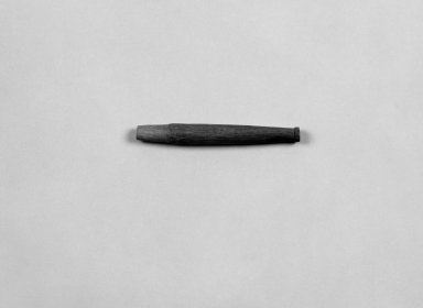Native American. <em>Pipe Stem</em>, 19th century. Wood, 4 15/16 x 9/16 in. (12.5 x 1.4 cm). Brooklyn Museum, Anonymous gift in memory of Dr. Harlow Brooks, 43.201.246. Creative Commons-BY (Photo: Brooklyn Museum, 43.201.246_bw.jpg)