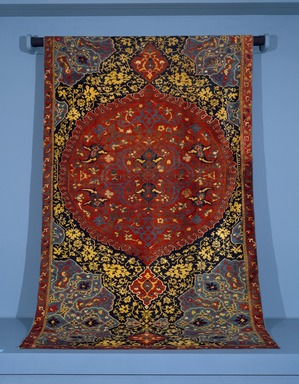<em>Medallion Ushak Carpet</em>, first half 16th century. Wool, 163 x 83 in. (414 x 210.8 cm). Brooklyn Museum, Gift of Mr. and Mrs. Frederic B. Pratt, 43.24.2. Creative Commons-BY (Photo: Brooklyn Museum, 43.24.2_SL3.jpg)