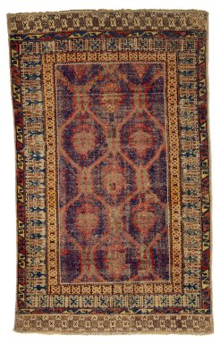 <em>Pomegranate Carpet</em>, late 15th century. Wool, 95 x 55 1/4 in.  (241.3 x 140.3 cm). Brooklyn Museum, Gift of Mr. and Mrs. Frederic B. Pratt, 43.24.6. Creative Commons-BY (Photo: Brooklyn Museum, 43.24.6_SL1.jpg)