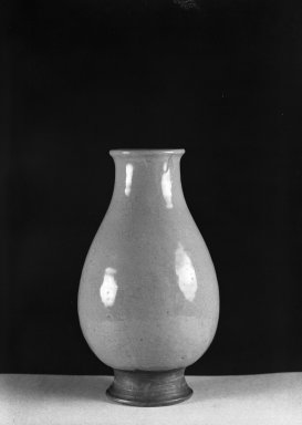American. <em>Vase</em>, ca. 1920. Glazed earthenware, 9 7/8 x 3 1/2 in. (25.1 x 8.9 cm). Brooklyn Museum, Gift of Mrs. Luke Vincent Lockwood, 43.61. Creative Commons-BY (Photo: Brooklyn Museum, 43.61_acetate_bw.jpg)