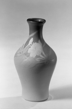 Rookwood Pottery Company (1880-1967). <em>Rookwood Vase</em>, 1900. Glazed white earthenware Brooklyn Museum, Gift of Arthur W. Clement, 44.1.15. Creative Commons-BY (Photo: Brooklyn Museum, 44.1.15_acetate_bw.jpg)