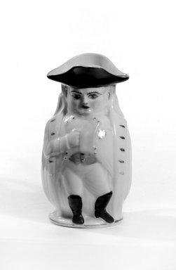 Morris & Willmore. <em>Napoleon Toby Pitcher</em>, 1895. Porcelain, 4 in. (10.2 cm). Brooklyn Museum, Gift of Arthur W. Clement, 44.1.4. Creative Commons-BY (Photo: Brooklyn Museum, 44.1.4_bw.jpg)