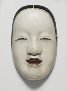 <em>Noh Mask</em>, 17th century. Wood and lacquer, 5 1/4 x 8 1/4 in. (13.4 x 21 cm). Brooklyn Museum, Gift of Mrs. Theodore Roosevelt in memory of Kermit Roosevelt, 44.192.1. Creative Commons-BY (Photo: Brooklyn Museum, 44.192.1_PS4.jpg)