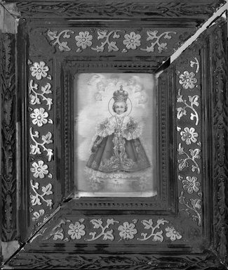 Unknown. <em>Print of Christ Child</em>. Wood and silver frame, 8 x 7 in. (20.3 x 17.8 cm). Brooklyn Museum, Museum Expedition 1944, Purchased with funds given by the Estate of Warren S.M. Mead, 44.195.20 (Photo: Brooklyn Museum, 44.195.20_bw.jpg)