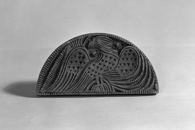 <em>Butter Print</em>, 19th century. Wood, 3 3/4 x 7 1/2 in. (9.5 x 19.1 cm). Brooklyn Museum, Dick S. Ramsay Fund, 44.196.3. Creative Commons-BY (Photo: Brooklyn Museum, 44.196.3_acetate_bw.jpg)
