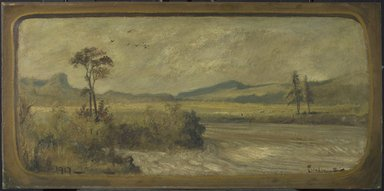 Louis Michel Eilshemius (American, 1864-1942). <em>Landscape</em>, 1917. Oil on board, 14 15/16 x 30 7/16 in. (38 x 77.3 cm). Brooklyn Museum, Gift of Harry Lorber, 44.237 (Photo: Brooklyn Museum, 44.237.jpg)