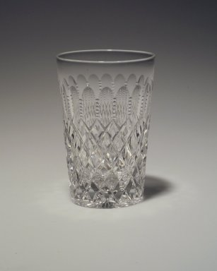 Possibly Dorflinger Glass Works. <em>Drinking Vessel</em>. Glass Brooklyn Museum, Gift of Mary E. and H. Randolph Lever, 44.40.3. Creative Commons-BY (Photo: Brooklyn Museum, 44.40.3.jpg)