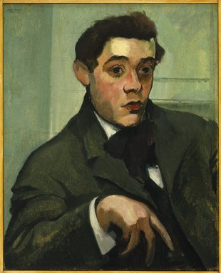 Max Weber (American, born Russia, 1881-1961). <em>Abraham Walkowitz</em>, 1907. Oil on canvas, 25 1/4 x 20 1/4 in. (64.1 x 51.4 cm). Brooklyn Museum, Gift of Abraham Walkowitz, 44.65 (Photo: Brooklyn Museum, 44.65_SL1.jpg)