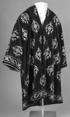 <em>Bokhara Robe</em>, late 19th century. Cerise velvet Brooklyn Museum, Gift of Mrs. J. Morton Halstead, 44.86. Creative Commons-BY (Photo: Brooklyn Museum, 44.86_bw.jpg)