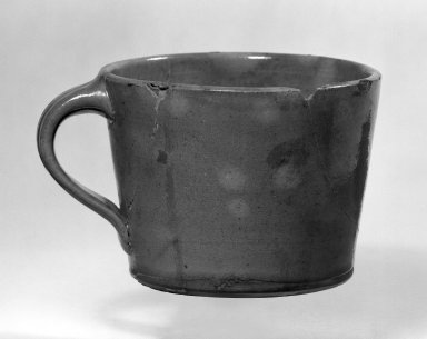 <em>Mug</em>. Glazed red earthenware Brooklyn Museum, Gift of Arthur W. Clement, 45.1.35. Creative Commons-BY (Photo: Brooklyn Museum, 45.1.35_bw.jpg)