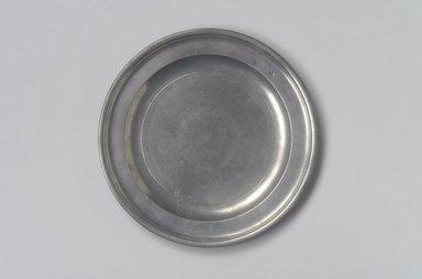 Nathaniel Austin. <em>Plate</em>, 1763-1807. Pewter, 5/8 x 8 3/4 x 8 3/4 in. (1.6 x 22.2 x 22.2 cm). Brooklyn Museum, Designated Purchase Fund, 45.10.10. Creative Commons-BY (Photo: Brooklyn Museum, 45.10.10.jpg)