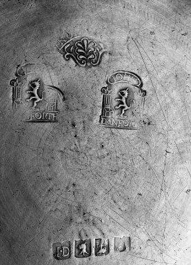 John Danforth. <em>Dish</em>. Pewter Brooklyn Museum, Designated Purchase Fund, 45.10.105. Creative Commons-BY (Photo: Brooklyn Museum, 45.10.105_mark_acetate_bw.jpg)