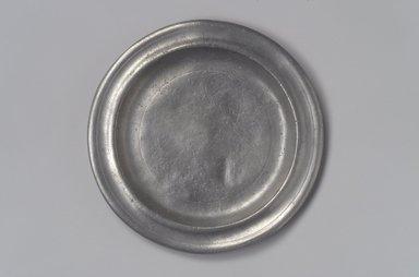 Thomas Danforth III (American, 1756-1840). <em>Plate</em>, 1777-1818. Pewter, 1/2 x 6 1/8 x 6 1/8 in. (1.3 x 15.6 x 15.6 cm). Brooklyn Museum, Designated Purchase Fund, 45.10.109. Creative Commons-BY (Photo: Brooklyn Museum, 45.10.109.jpg)