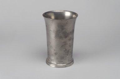 Richard Bennett. <em>Beaker</em>, 1760-1782. Pewter, 5 1/4 x 3 5/8 x 3 5/8 in. (13.3 x 9.2 x 9.2 cm). Brooklyn Museum, Designated Purchase Fund, 45.10.125. Creative Commons-BY (Photo: Brooklyn Museum, 45.10.125.jpg)