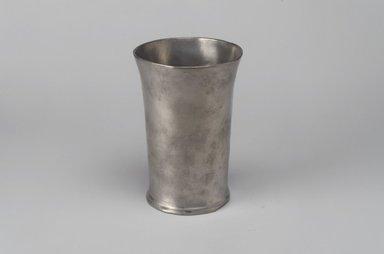John Will. <em>Beaker</em>, 1752-1763. Pewter, 5 1/4 x 3 5/8 x 3 1/2 in. (13.3 x 9.2 x 8.9 cm). Brooklyn Museum, Designated Purchase Fund, 45.10.126. Creative Commons-BY (Photo: Brooklyn Museum, 45.10.126.jpg)