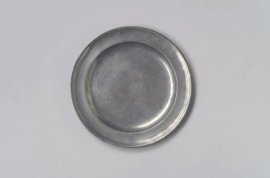 Nathaniel Austin. <em>Plate</em>, 1763-1807. Pewter, 1/2 x 7 5/8 x 7 5/8 in. (1.3 x 19.4 x 19.4 cm). Brooklyn Museum, Designated Purchase Fund, 45.10.13. Creative Commons-BY (Photo: Brooklyn Museum, 45.10.13.jpg)