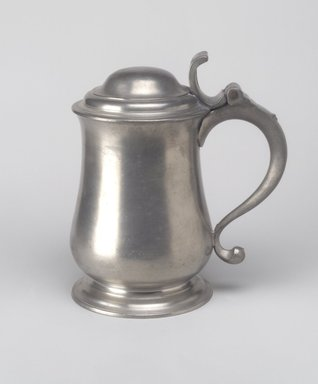 Thomas Swanson (British, born London, 1753-1783). <em>Dome Top Tankard</em>, 1760-1780. Pewter, 7 3/4 x 7 1/8 x 4 5/8 in. (19.7 x 18.1 x 11.7 cm). Brooklyn Museum, Designated Purchase Fund, 45.10.154. Creative Commons-BY (Photo: Brooklyn Museum, 45.10.154.jpg)