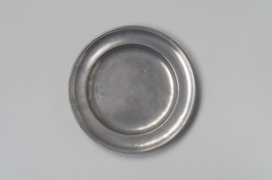 Parks Boyd. <em>Plate</em>, 1795-1819. Pewter, 5/8 x 7 7/8 x 7 7/8 in. (1.6 x 20 x 20 cm). Brooklyn Museum, Designated Purchase Fund, 45.10.178. Creative Commons-BY (Photo: Brooklyn Museum, 45.10.178.jpg)