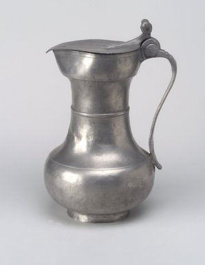 Unknown (possibly French). <em>Flagon</em>, n.d. Pewter, 9 3/8 x 6 3/8 x 5 1/2 in. (23.8 x 16.2 x 14 cm). Brooklyn Museum, Designated Purchase Fund, 45.10.193. Creative Commons-BY (Photo: Brooklyn Museum, 45.10.193.jpg)