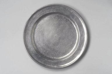 David Melville. <em>Dish</em>, 1776-1793. Pewter, 1 1/4 x 14 1/8 x 14 1/8 in. (3.2 x 35.9 x 35.9 cm). Brooklyn Museum, Designated Purchase Fund, 45.10.38. Creative Commons-BY (Photo: Brooklyn Museum, 45.10.38.jpg)