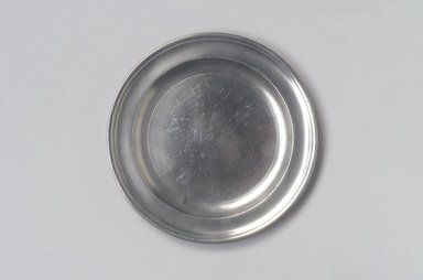 William Billings. <em>Plate</em>, 1791-1806. Pewter, 5/8 x 8 3/8 x 8 3/8 in. (1.6 x 21.3 x 21.3 cm). Brooklyn Museum, Designated Purchase Fund, 45.10.45. Creative Commons-BY (Photo: Brooklyn Museum, 45.10.45.jpg)